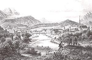 Ischl um 1855 - Autor unbekannt, gemeinfrei